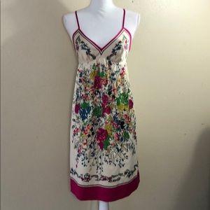 Eci silk slip dress size 6